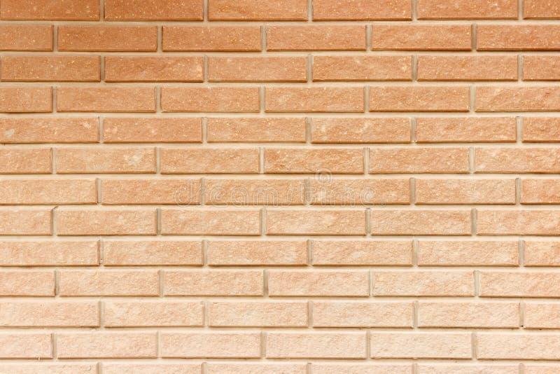 无缝的红砖墙壁样式 橙色砖纹理 免版税库存图片