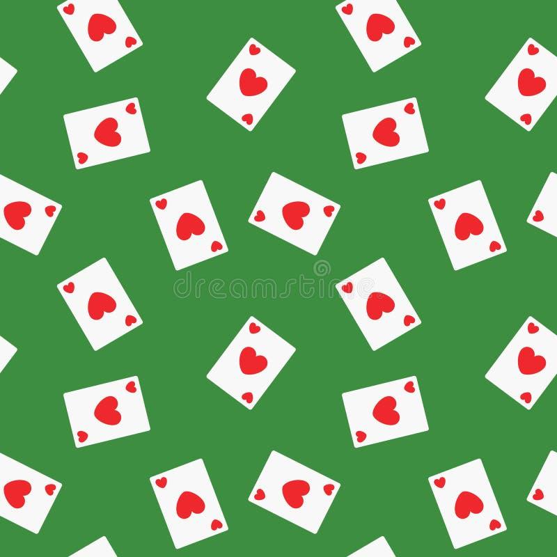 无缝的纸牌心脏衣服样式背景图片