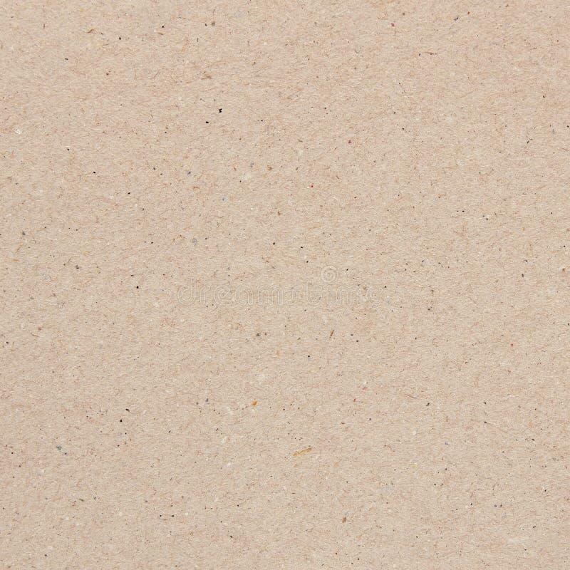 无缝的纸纹理或纸板背景 免版税库存图片