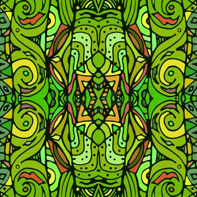 无缝的纹理向量 不尽的背景绿色 无缝种族的模式 明亮的模式 明亮的样式 向量例证