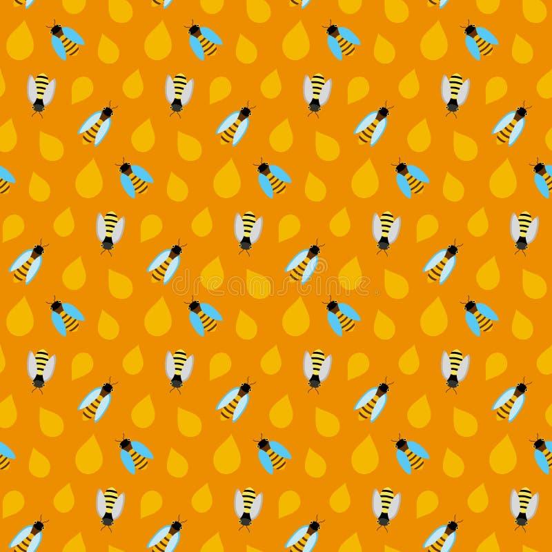 无缝的纹理样式用在黄色的蜂蜜 库存照片