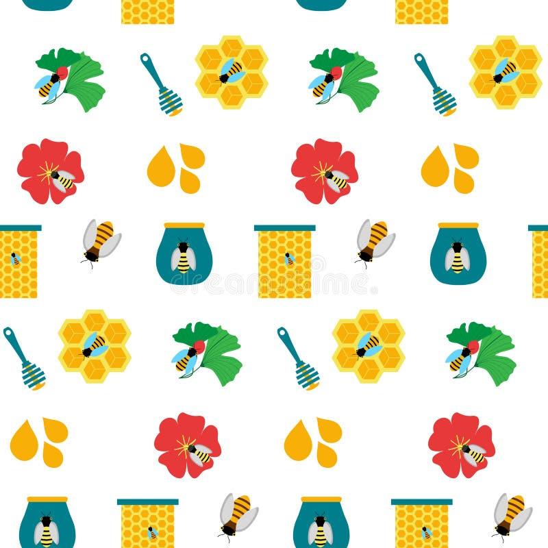 无缝的纹理用蜂蜜 免版税库存图片