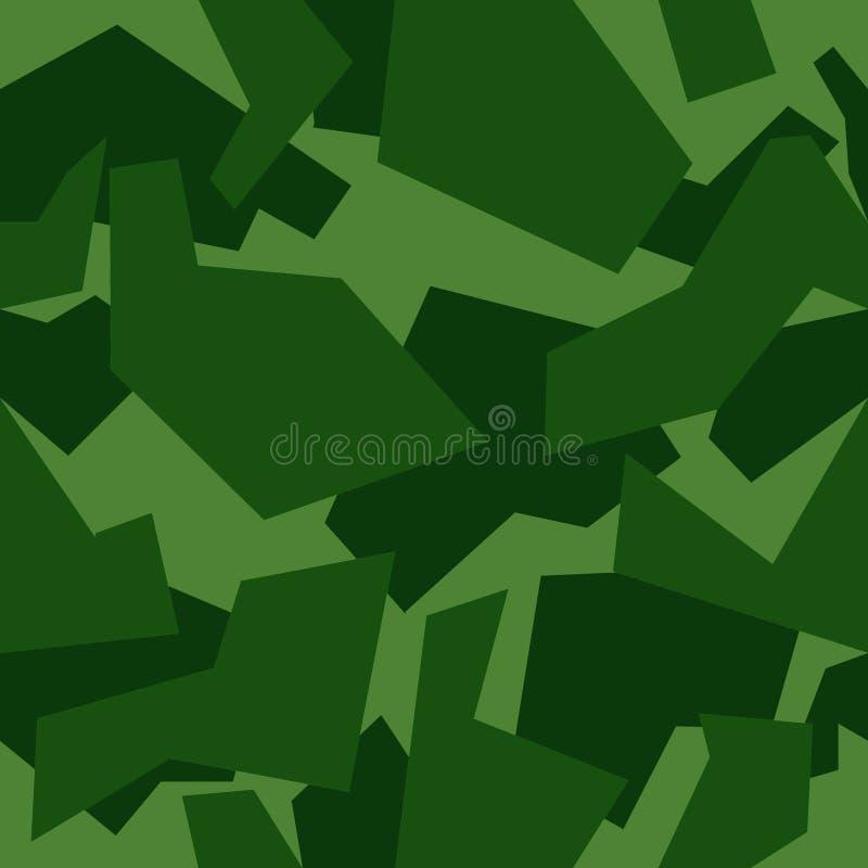 无缝的纹理绿色,几何,森林伪装 皇族释放例证