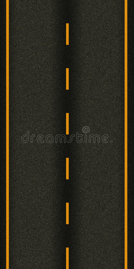 无缝的纹理高速公路柏油路 免版税库存照片