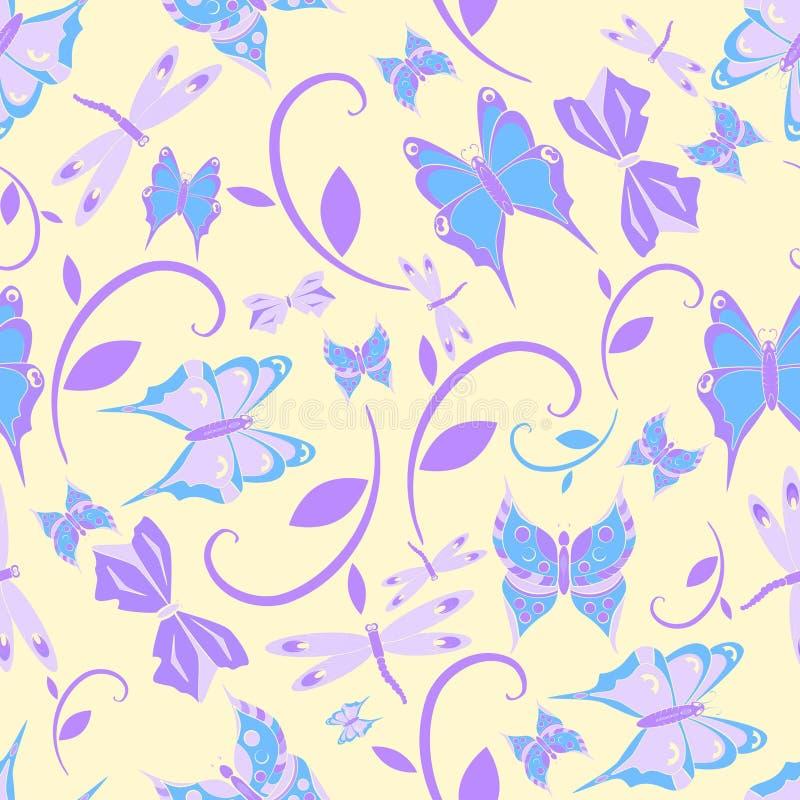 无缝的纹理蝴蝶 图库摄影