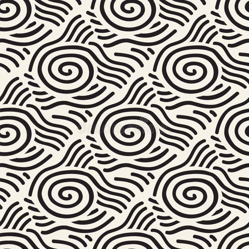 无缝的线样式几何瓦片的背景 皇族释放例证