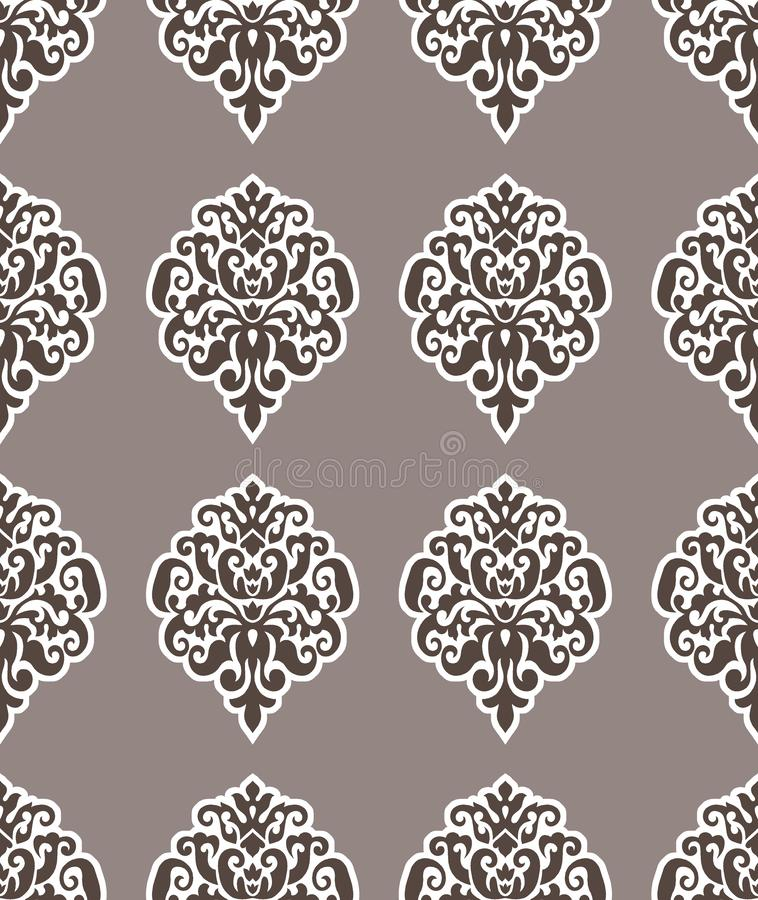 无缝的维多利亚女王时代的锦缎样式设计 皇族释放例证