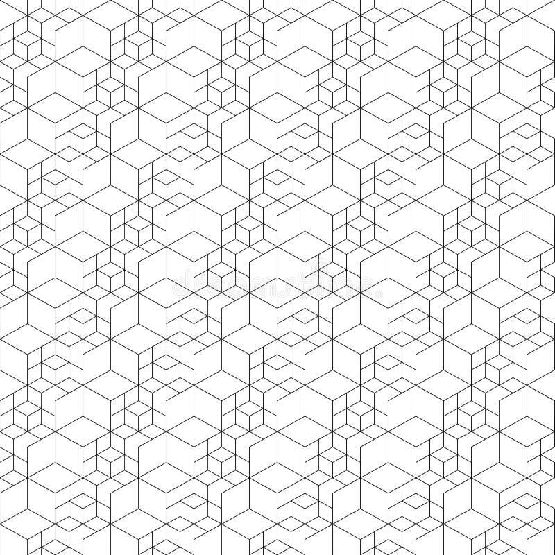 无缝的网格图形 也corel凹道例证向量 六角电池纹理 栅格背景 设计几何 现代时髦的抽象textur 库存例证
