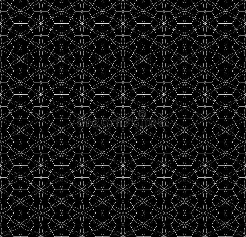 无缝的网格图形 几何星作用 时尚图形设计 也corel凹道例证向量 背景设计 现代时髦的abstra 向量例证