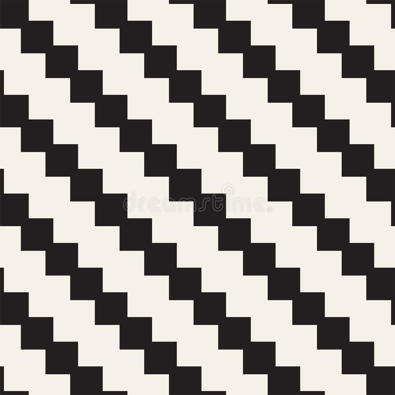 无缝的网眼图案样式 重复的风格化格子 相称几何墙纸 格子种族主题 向量 皇族释放例证