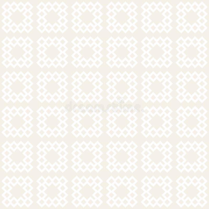 无缝的网眼图案样式 重复的风格化格子 相称几何墙纸 格子种族主题 向量 库存例证