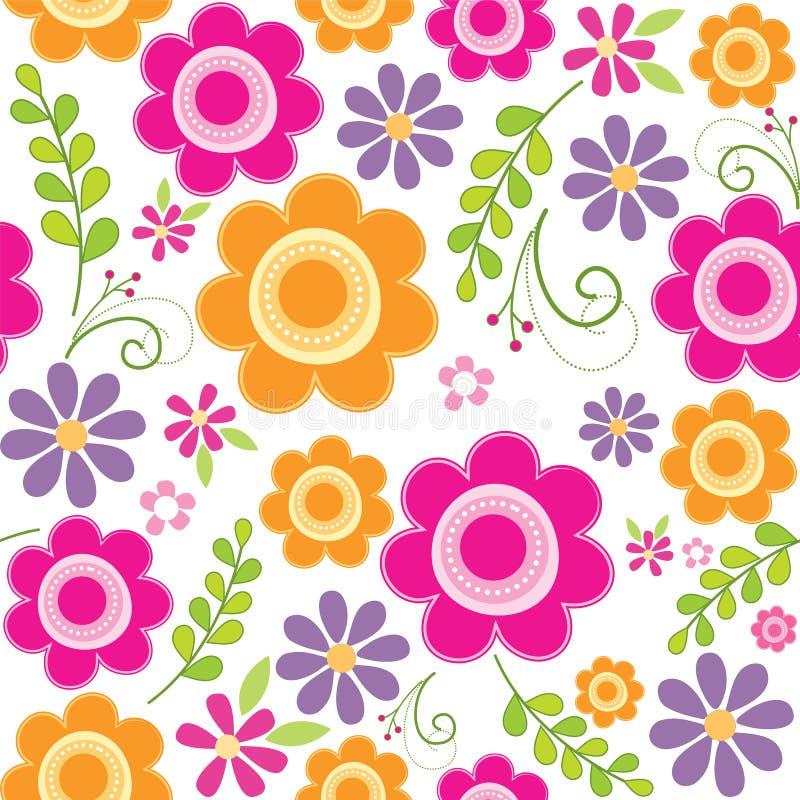 无缝的美好的花纹花样 库存例证