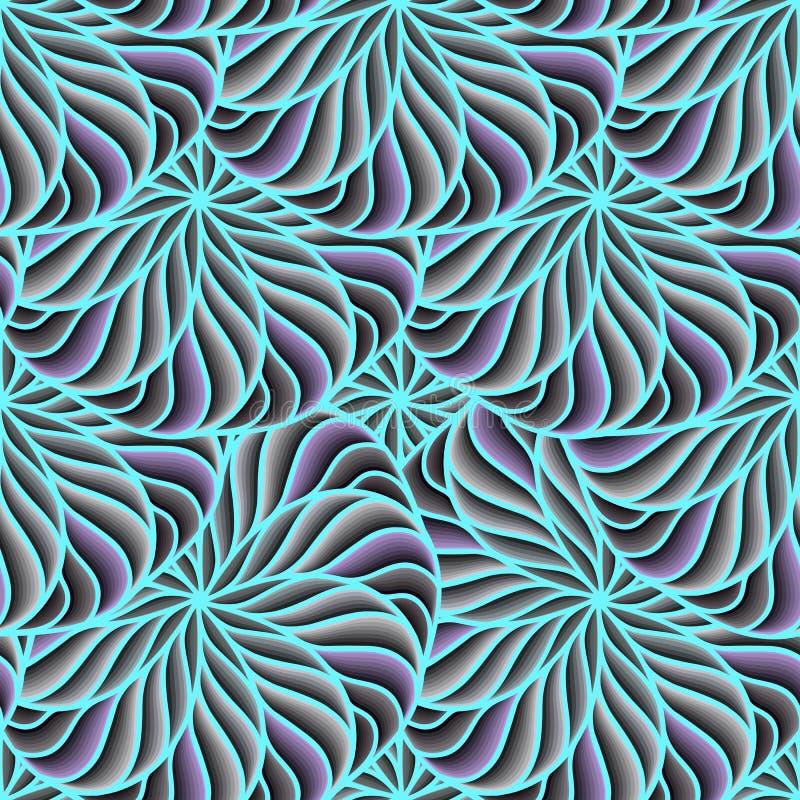 无缝的背景传染媒介色环 几何形状的构成 明亮的时兴的颜色,蓝色 向量例证