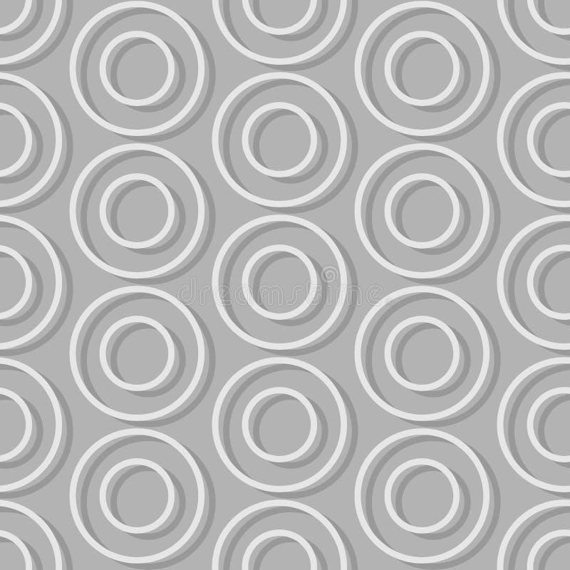无缝的背景圈子  减速火箭抽象无缝的样式 库存例证