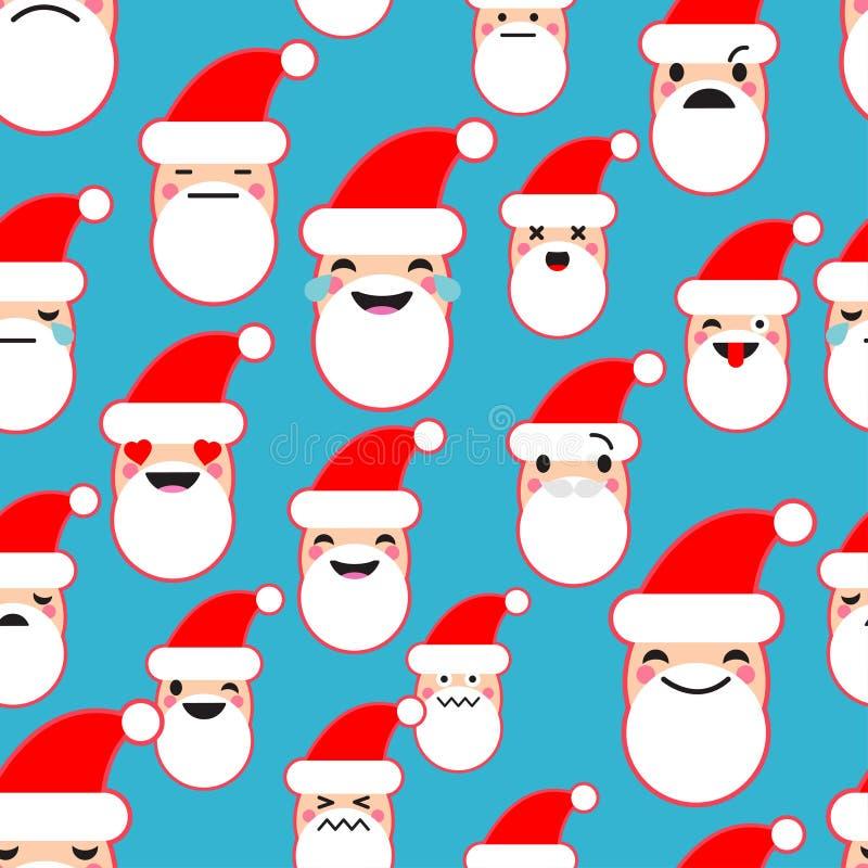 无缝的背景激动圣诞老人项目的 逗人喜爱的动画片 也corel凹道例证向量 向量例证