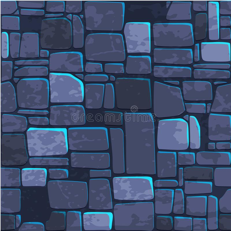 无缝的背景纹理蓝宝石墙壁 Ui比赛元素的传染媒介例证 库存例证