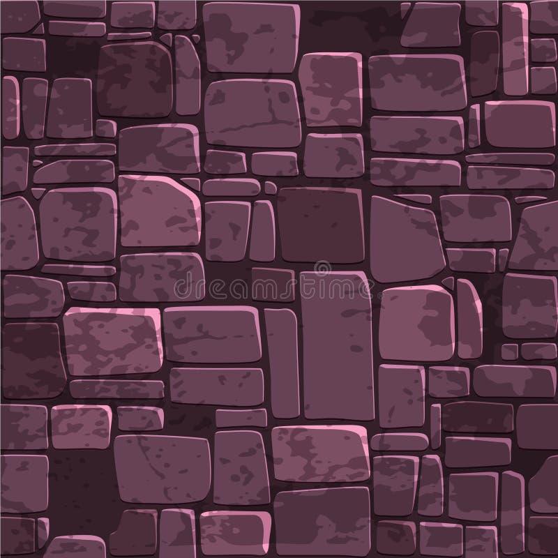 无缝的背景纹理颜色石墙 Ui比赛元素的传染媒介例证 向量例证