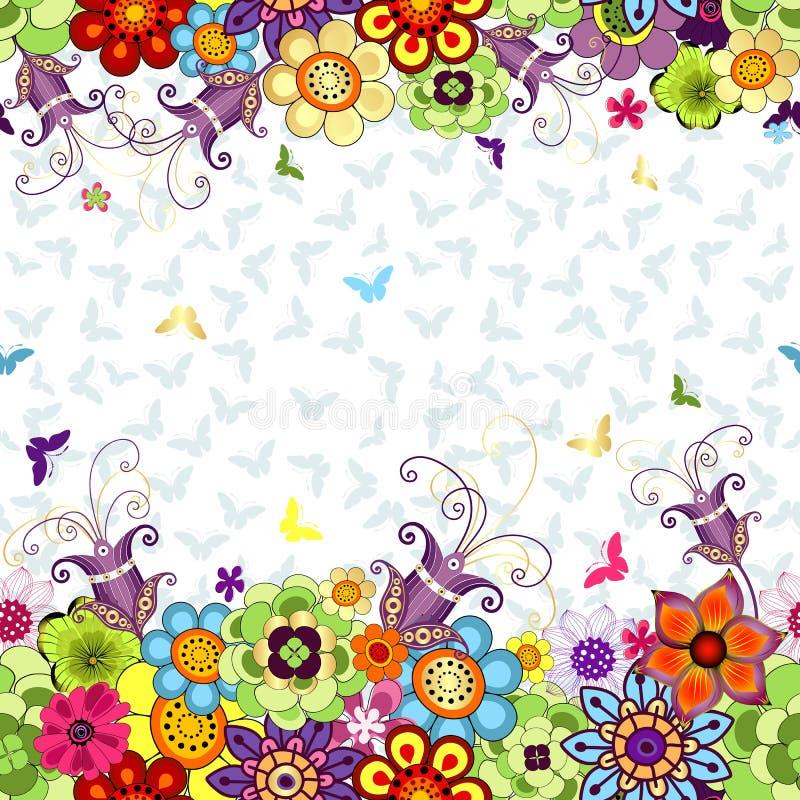 无缝的花卉春天样式 皇族释放例证