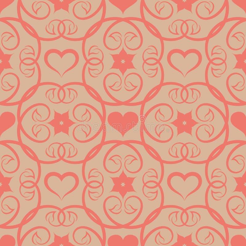 无缝的花卉桃红色啪答声 库存例证