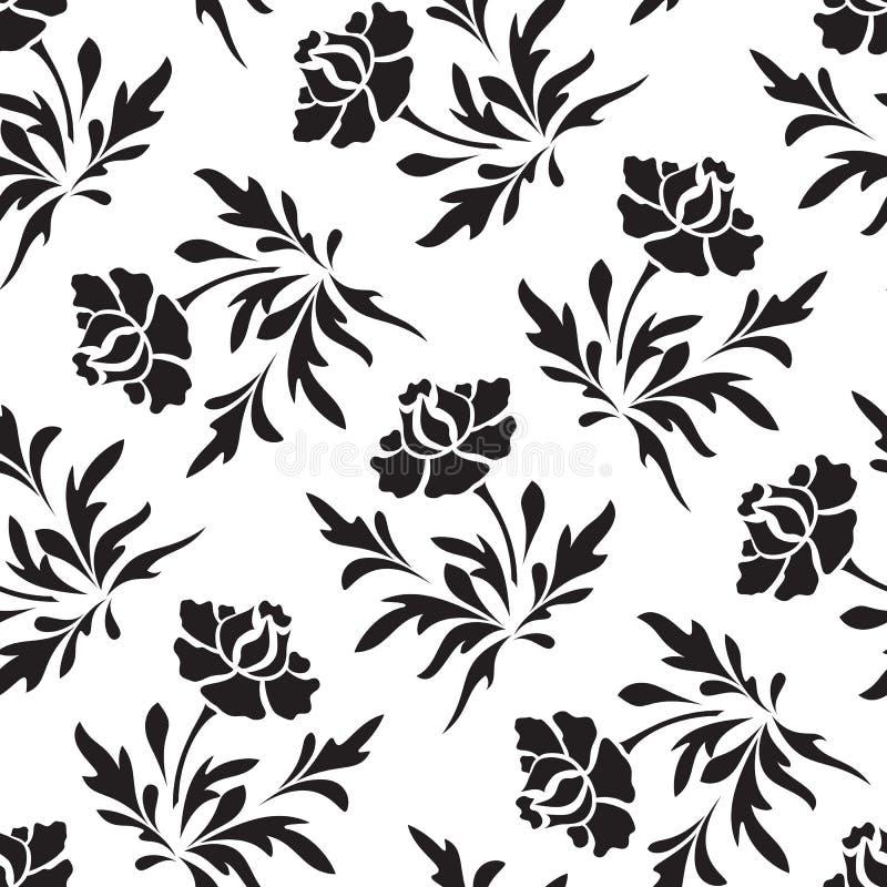无缝的花卉模式 库存例证