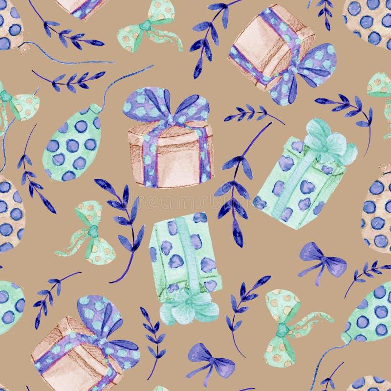 无缝的花卉背景 与饱和的黑暗的花的网眼图案手工制造自然种族织品背景样式 E 皇族释放例证