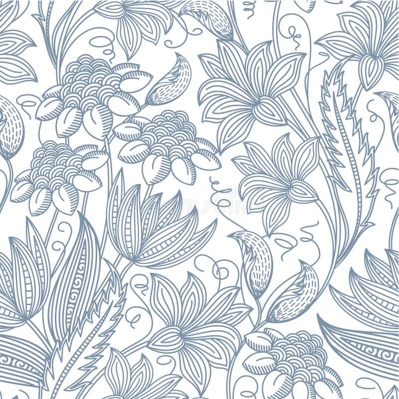 无缝的花卉背景 库存例证