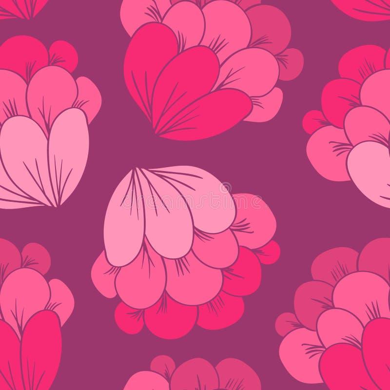无缝的花纹花样 库存例证
