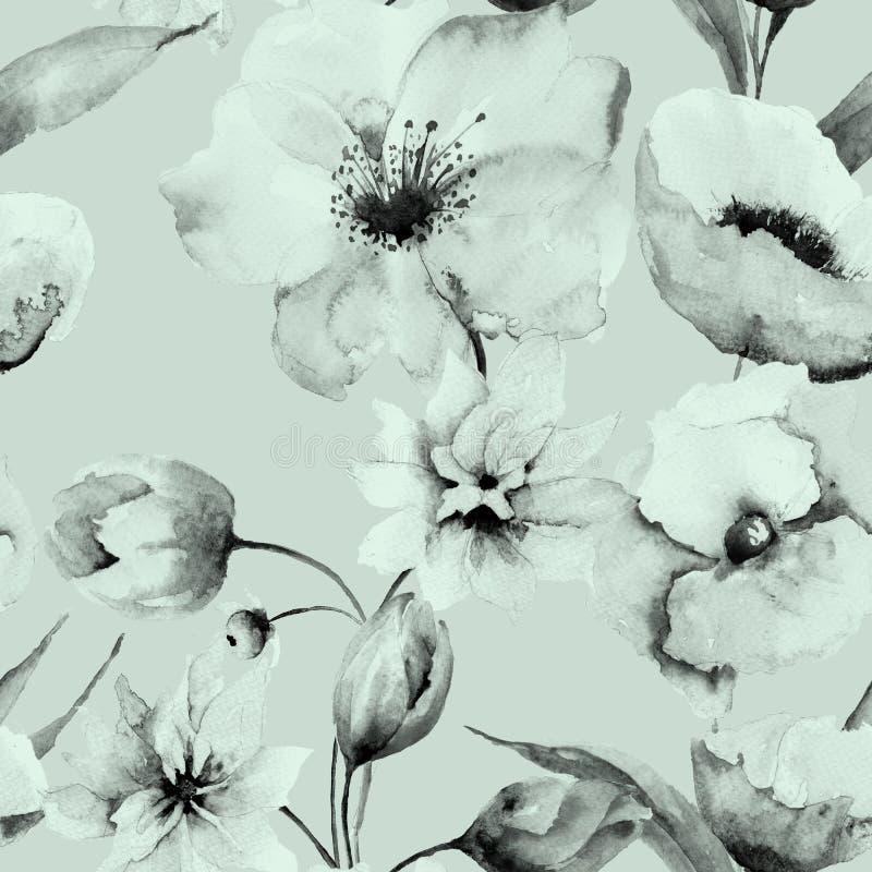 无缝的花纹花样 皇族释放例证