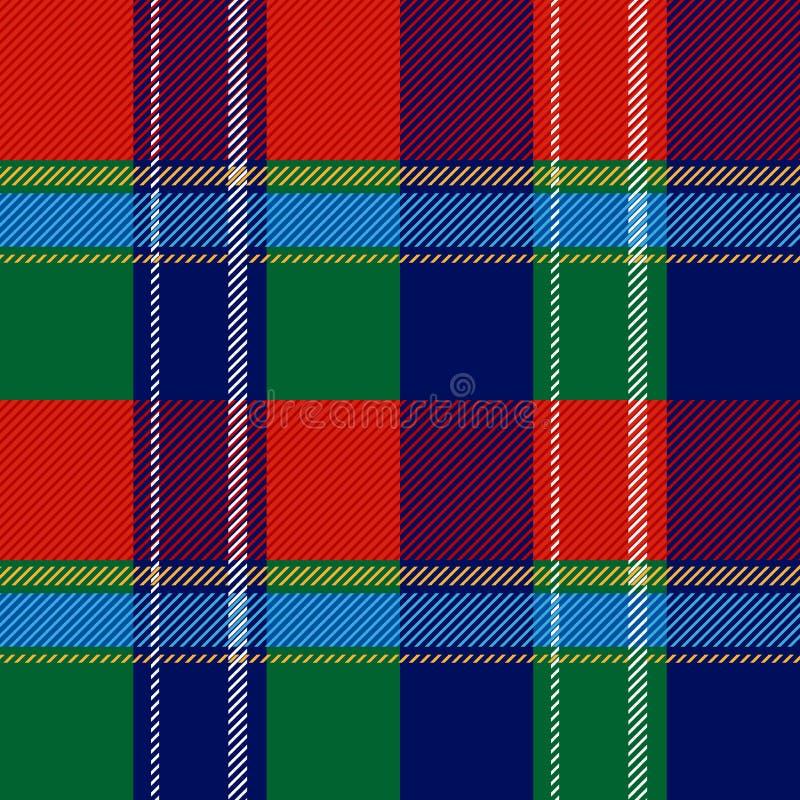 无缝的苏格兰格子花呢披肩方格的传染媒介样式 皇族释放例证