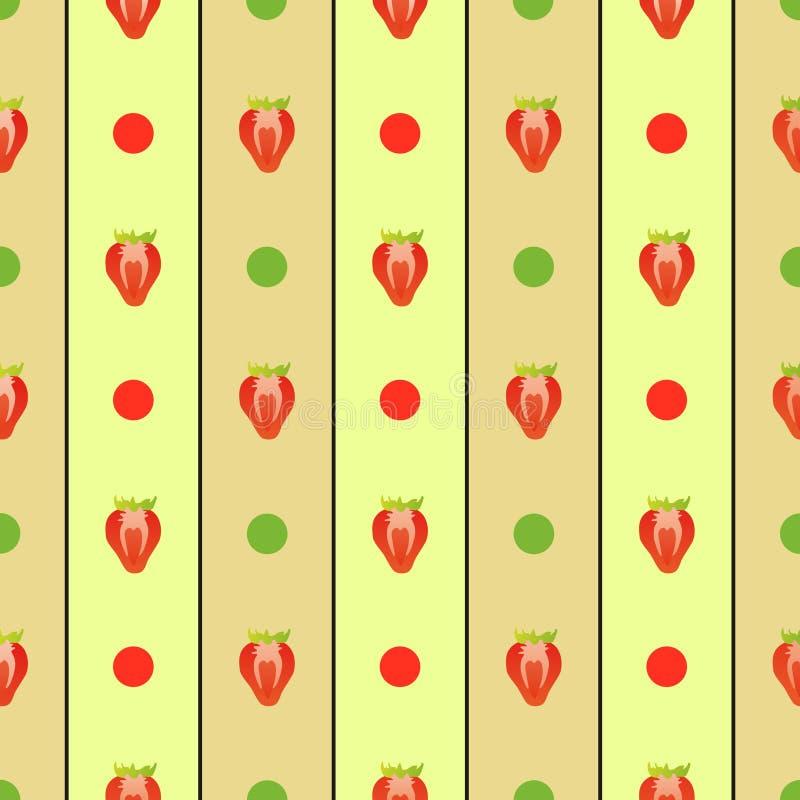 无缝的草莓 向量例证