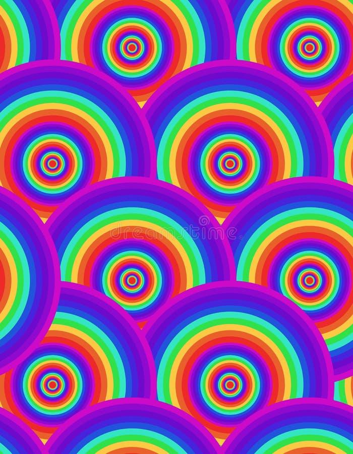 无缝的荧光的彩虹纹理 向量例证