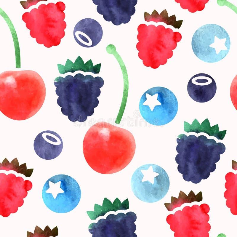 无缝的莓果 向量例证