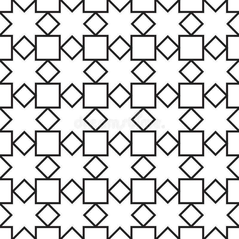 无缝的葡萄酒几何样式 向量例证
