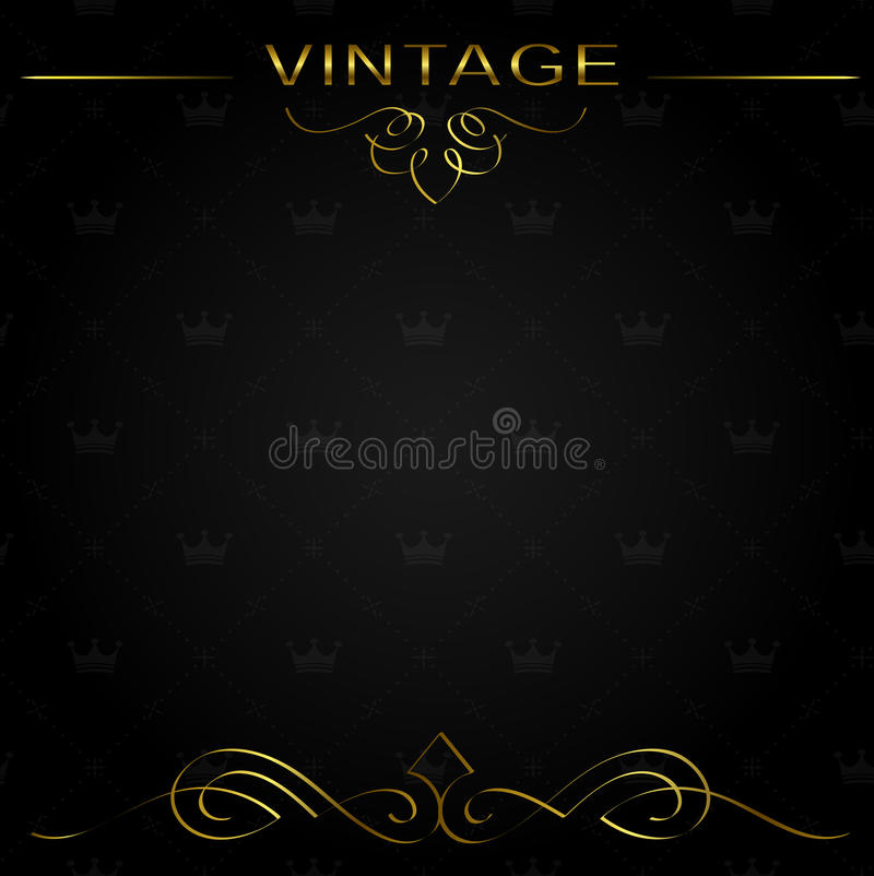无缝的葡萄酒背景或框架 皇族释放例证