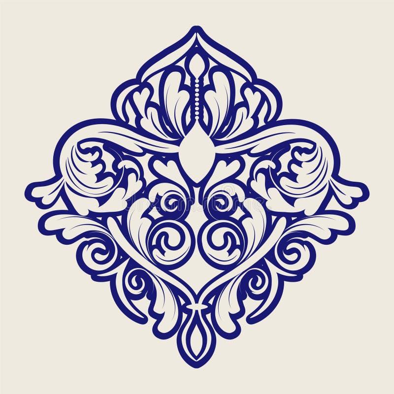 无缝的蓝色锦缎 库存例证