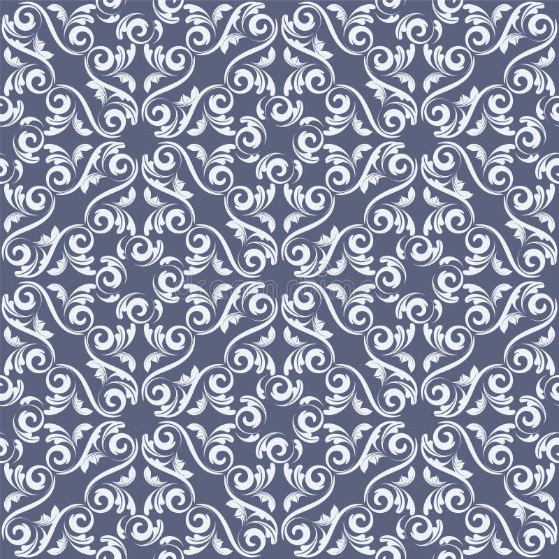 无缝的蓝色锦缎 向量例证