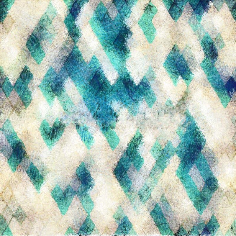 无缝的蓝色阿兹台克背景 向量例证