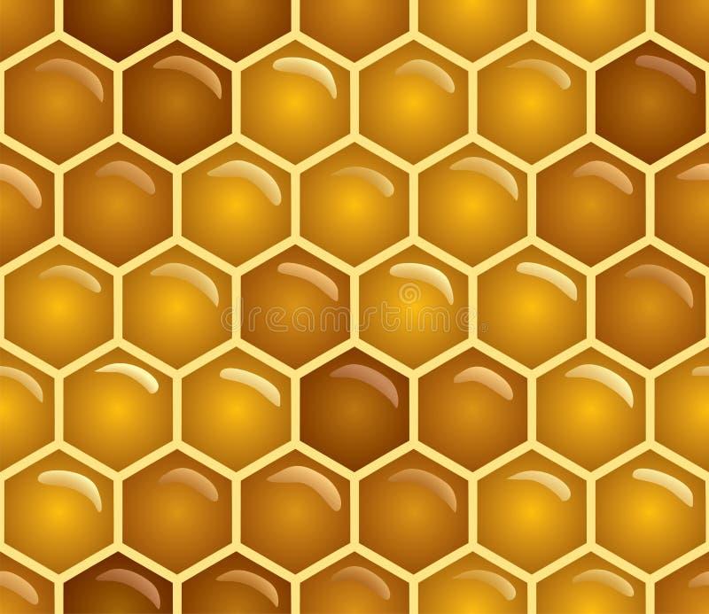 无缝的蜂蜜 库存例证