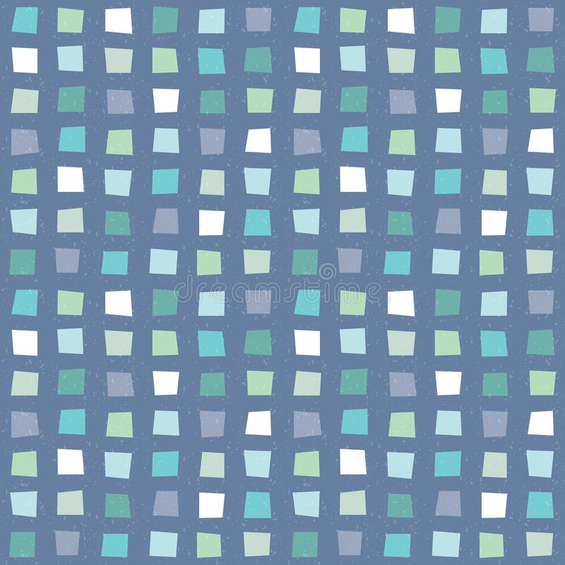 无缝的行家几何样式水色蓝色海军 向量例证