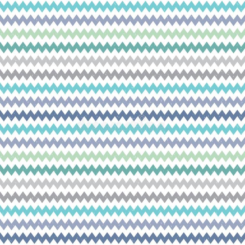 无缝的行家V形臂章样式蓝绿色灰色 库存例证