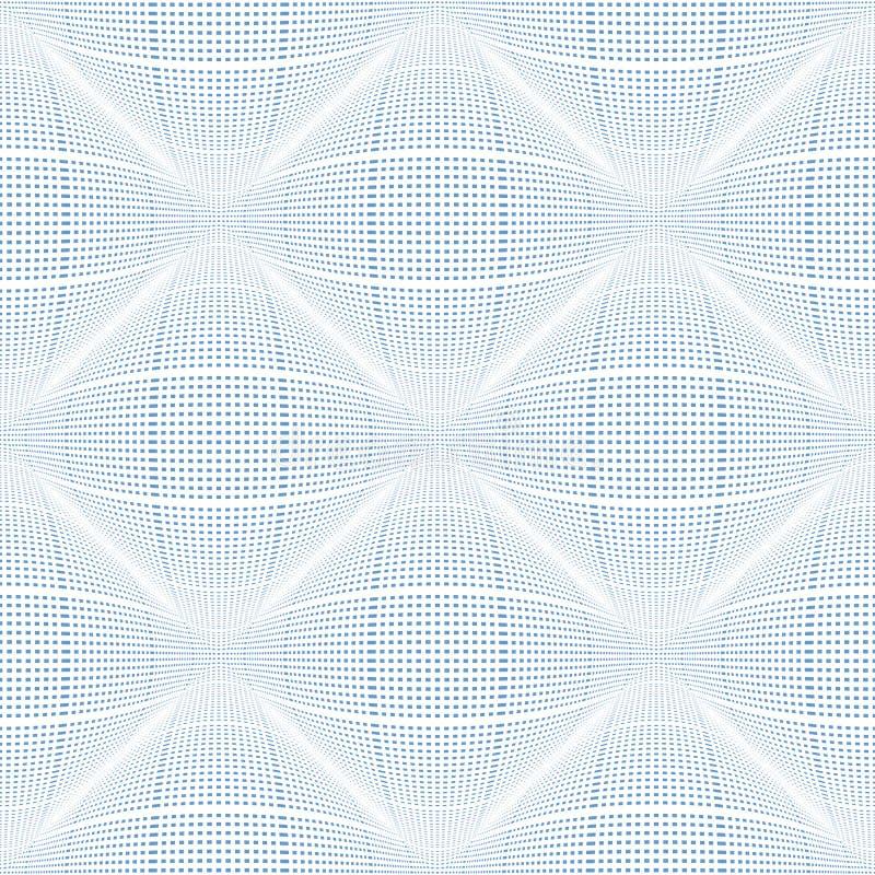 无缝的被检查的3D样式 几何凸面纹理 库存例证