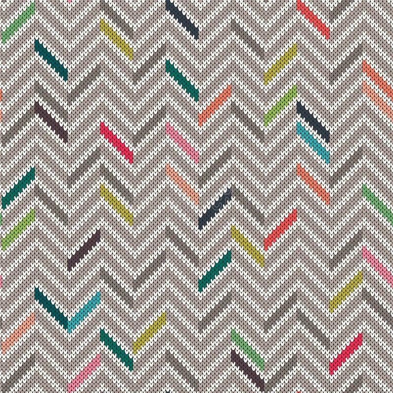 无缝的被编织的几何样式 向量例证