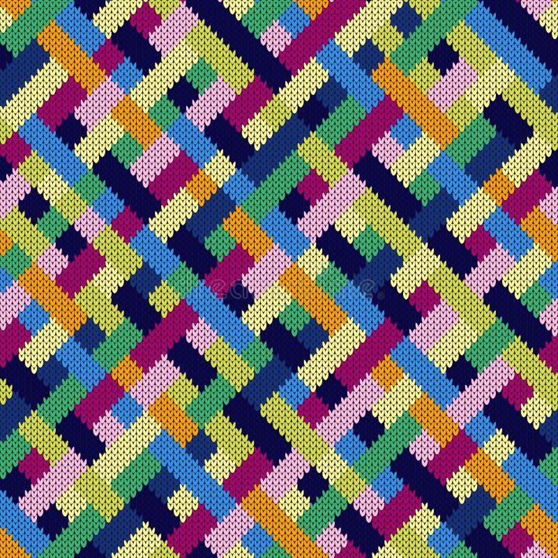 无缝的被编织的多彩多姿的被编织的样式 向量例证