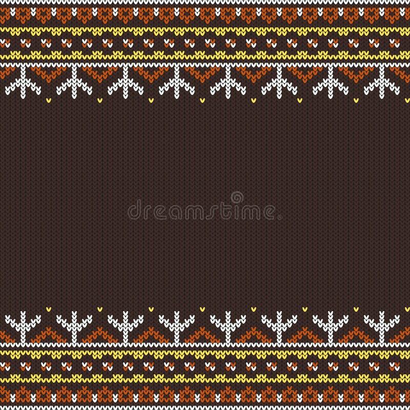 无缝的被编织的装饰品 皇族释放例证