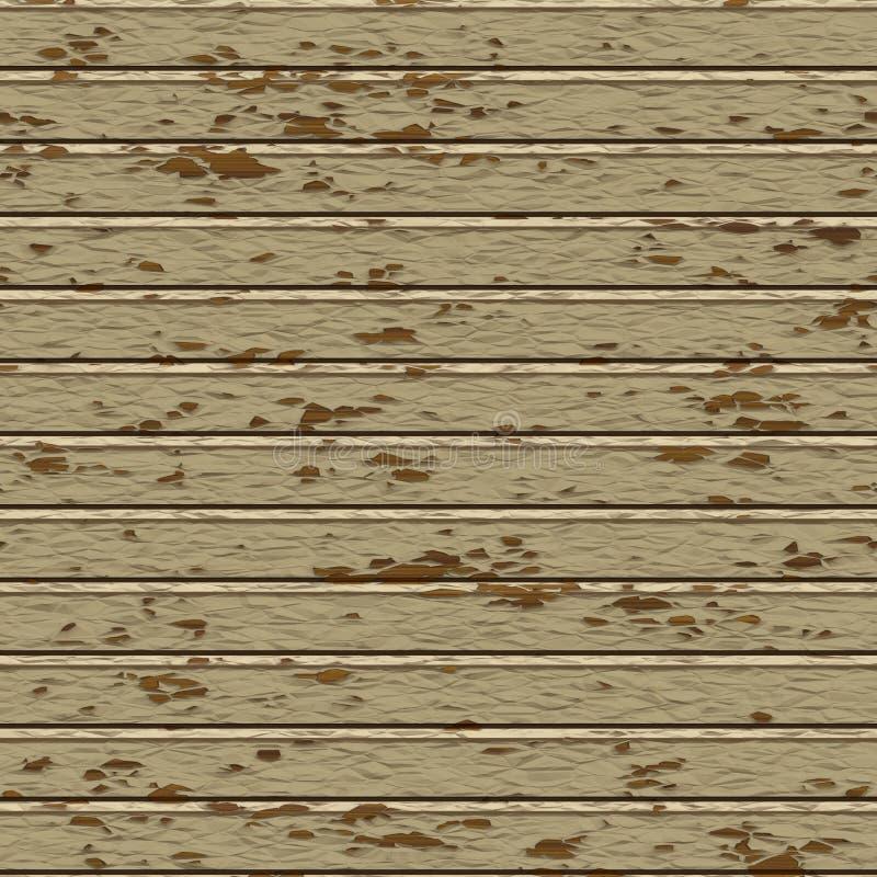 无缝的被绘的木板条纹理 库存例证