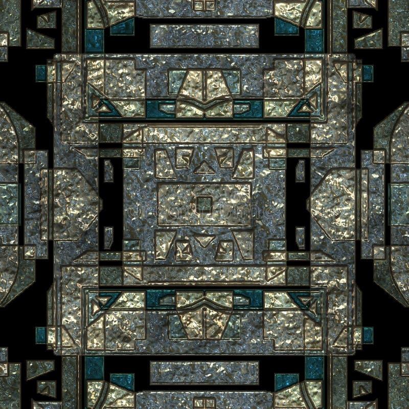 无缝的装饰的科学幻想小说金属纹理 库存例证