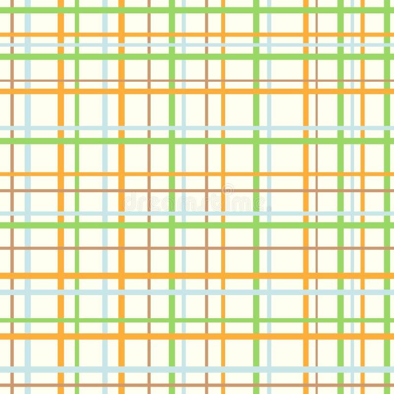 无缝的软的淡色方格的样式 库存例证