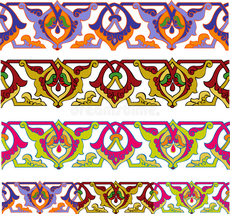 无缝的边界色 向量例证