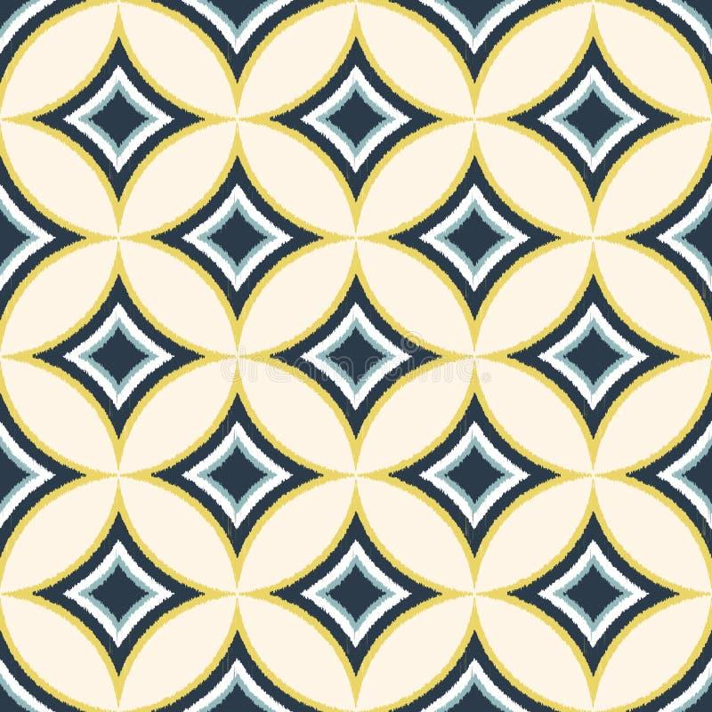 无缝的金刚石圈子墙纸样式 皇族释放例证