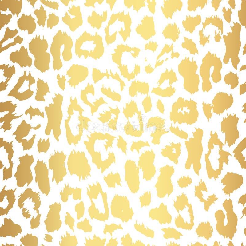 无缝的金豹子印刷品 传染媒介样式,纹理,背景 皇族释放例证